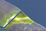 Example of the data collected by a hyperspectral sensor as it flew over a section of the Western Basin of Lake Erie, on September 19, 2016