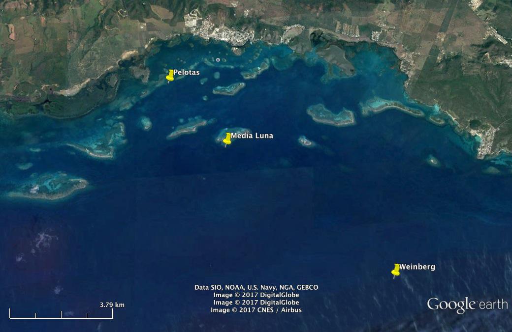 Google Earth Map-MagueyesIsland-PR