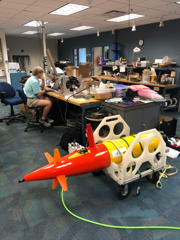 The propeller end of the long-range AUV in which the 3GESP will be housed.